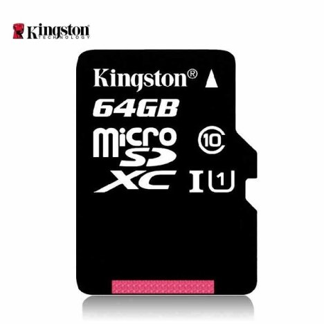 Micro sd card kingston; model: sdc10g2/64gb
